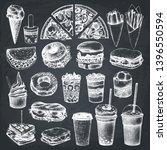 fastfood illustrations... | Shutterstock .eps vector #1396550594