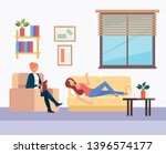 patient talking to a... | Shutterstock .eps vector #1396574177