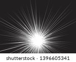 radial zoom speed black line on ... | Shutterstock .eps vector #1396605341