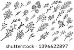 big set of hand drawn floral... | Shutterstock .eps vector #1396622897