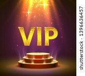 vip podium with lighting  stage ... | Shutterstock .eps vector #1396636457