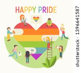 lgbt people community poster  ... | Shutterstock .eps vector #1396641587