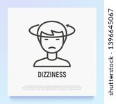 human with dizziness thin line... | Shutterstock .eps vector #1396645067