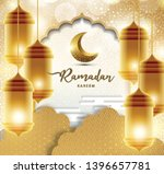 ramadan kareem with golden... | Shutterstock .eps vector #1396657781