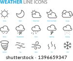 set of weather icons  cloudy ... | Shutterstock .eps vector #1396659347