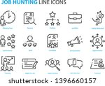 set of job hunting icons  such... | Shutterstock .eps vector #1396660157