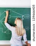 female teacher standing with... | Shutterstock . vector #139666405