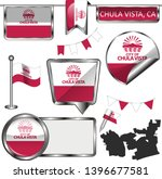 vector glossy icons of flag of...