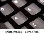 closeup of computer keyboard | Shutterstock . vector #13966786