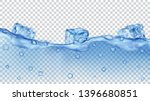 translucent blue ice cubes and... | Shutterstock .eps vector #1396680851