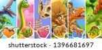 dinosaurs cartoon character.... | Shutterstock .eps vector #1396681697