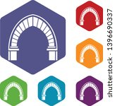 stone arch icons vector... | Shutterstock .eps vector #1396690337