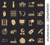 telecommunication icons set.... | Shutterstock .eps vector #1396690454