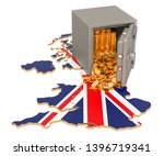 safe box with golden coins on... | Shutterstock . vector #1396719341