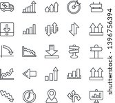 thin line icon set   signpost... | Shutterstock .eps vector #1396756394