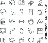 thin line icon set   medical... | Shutterstock .eps vector #1396756634