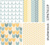 vector set of four gray and... | Shutterstock .eps vector #139676119