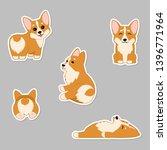 cute puppies welsh corgi....   Shutterstock .eps vector #1396771964