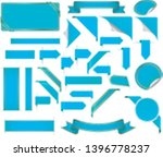 big set of different blue... | Shutterstock .eps vector #1396778237