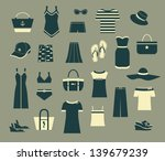 summer clothes and accessories  ...   Shutterstock .eps vector #139679239