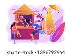bartender in beach bar and...   Shutterstock .eps vector #1396792964
