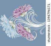 spring background with gerbera... | Shutterstock .eps vector #1396796171
