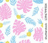 exotic seamless colorful... | Shutterstock .eps vector #1396799504
