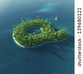 island alphabet. paradise... | Shutterstock . vector #139680121