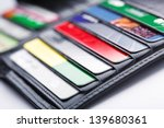 black leather wallet with...   Shutterstock . vector #139680361