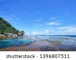 rock shore. sea natural pool... | Shutterstock . vector #1396807511