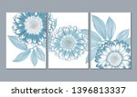 a set of 3 canvases for wall...   Shutterstock .eps vector #1396813337