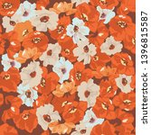 poppies. vector seamless...   Shutterstock .eps vector #1396815587
