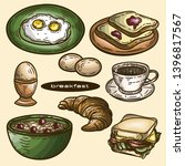 vector hand drawn colorful set... | Shutterstock .eps vector #1396817567