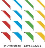 big set of corner ribbon banners | Shutterstock .eps vector #1396822211