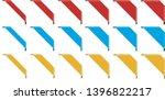 set of different colored corner ... | Shutterstock .eps vector #1396822217