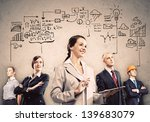 image of young businesspeople...   Shutterstock . vector #139683079