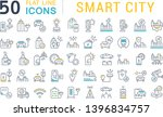 set of vector line icons of... | Shutterstock .eps vector #1396834757