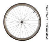 bicycle wheel isolated on white ... | Shutterstock . vector #139684957