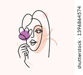 vector illustration in minimal... | Shutterstock .eps vector #1396864574