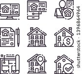 real estate color icons set....