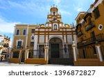 the basilica of santa maria de... | Shutterstock . vector #1396872827