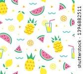 summer pattern. pineapple ...