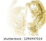 yellow abstract fractal... | Shutterstock . vector #1396947014