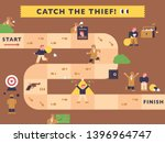a detective catching a thief.... | Shutterstock .eps vector #1396964747