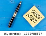 text sign showing carbon offset.... | Shutterstock . vector #1396988597