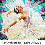 Ballerina  White Swan On The...