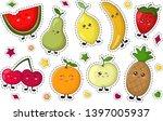 set of kawaii sticker or patch... | Shutterstock .eps vector #1397005937