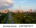 a drone aerial view of the city | Shutterstock . vector #1397007077
