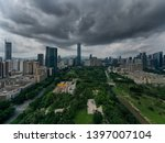 a drone aerial view of the city | Shutterstock . vector #1397007104