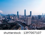 a drone aerial view of the city | Shutterstock . vector #1397007107